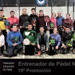 19º PROMOCIÓN DE MONITORES DE PADEL NIVEL 1 FEXPADEL 2019