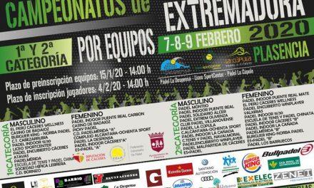 Campeonatos de Extremadura por Equipos de la 1ª Y 2ª Categoría 2020