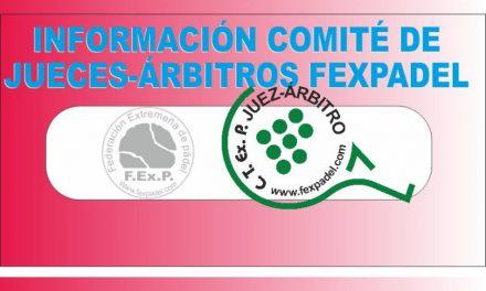 INFORMACIÓN A JUECES-ÁRBITROS TEMPORADA 2020