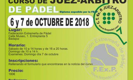 CURSO DE JUEZ-ÁRBITRO DE PADEL 2018
