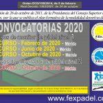 CURSOS DE FORMACIÓN DE PÁDEL PARA EL 2020