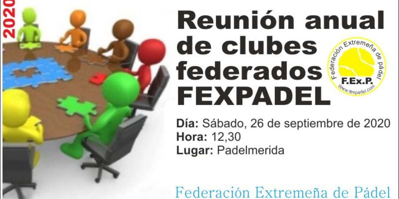 REUNIÓN DE CLUBES FEDERADOS 2020