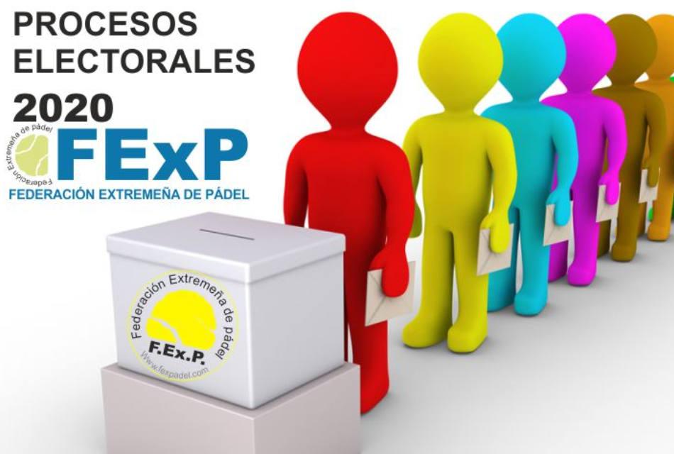 PROCESOS ELECTORALES FEXPADEL 2020
