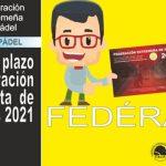 LICENCIA FEDERATIVA FEXPADEL 2021