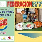 CLAUSURADA LA 1ª PRUEBA DEL CIRCUITO BURGER KING DE PADEL DE MENORES 2021