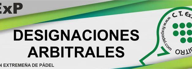 Designaciones Arbitrales Fexpadel 2021