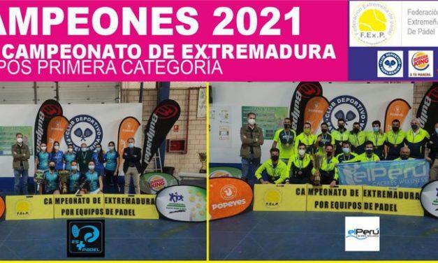 CLAUSURADO EL XIV CAMPEONATO DE EXTREMADURA POR EQUIPOS DE CUBES DE 1ª CATEGORÍA 2021
