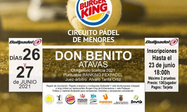 3ª PRUEBA CIRCUITO BURGER KING DE MENORES EN DON BENITO 2021