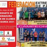 FINALIZÓ EL XII CAMPEONATO DE EXTREMADURA POR EQUIPOS DE 3ª F.F. 2021